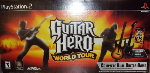 Guitar Hero World Tour PS2 - Exclusive 2-Pak Guitar Kit - Complete Dual Guitar Game by RedOctane/Activision - 2 Pak Kit