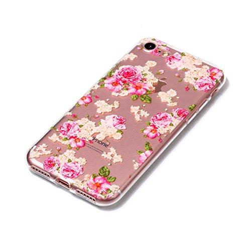 iPhone 7 Hülle, Voguecase Silikon Schutzhülle / Case / Cover / Hülle / TPU Gel Skin für Apple iPhone 7/iPhone 8 4.7(Zitrone 06) + Gratis Universal Eingabestift Pink Rose 07
