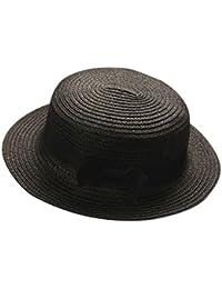 Sombrero de paja para niños con lazo para el padre madre bebé f793be4b433