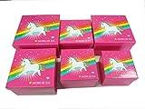586703WU Gesschenkboxen 6 Stück Motiv Einhorn, quadratische stabile Schachteln in 6 Größen, Geschenkbox, Geschenkkarton, Geschenkverpackung, Schatzkiste, usw, Deko Karton, Stapelbox Dekobox Geschenkbox Allzweckbox Allzweckkiste Box Kiste Aufbewahrungskiste Aufbewahrungsbox Boxenset
