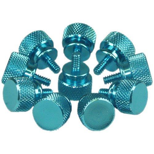 InLine® Rändelschrauben (blau) für Gehäuse, 12mm, 10er Pack
