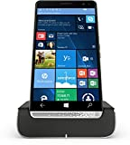 HP Elite x3 (Y1M46EA) Smartphone (15,14 cm (5,96 Zoll) Amoled WQHD Touchdisplay, 64 GB, Dual Sim, Windows 10 Mobile) inkl. Headset und Docking Station, Schwarz/Silber