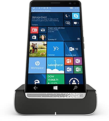 HP Elite x3 (Y1M46EA) Smartphone (15,14 cm (5,96 Zoll) Amoled WQHD Touchdisplay, 64 GB, Dual Sim, Windows 10 Mobile) inkl. Headset und Docking Station, schwarz /
