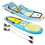 Happy Garden Stand Up Paddle/Kayak Gonflable 2-en-1 Evolution et Ses Accessoires