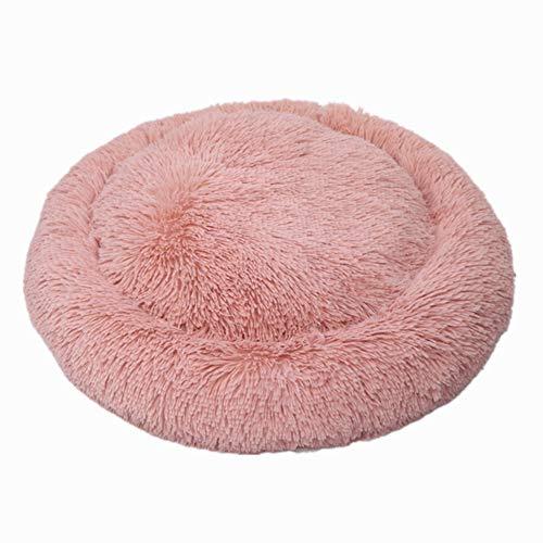 Westeng Kawaii Casa para Mascotas Redondo Cama de Perro De Sofa Perro Gato Size 50cm (Rosa)