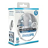 Philips WhiteVision Xenon effect H7 headlight bulb 12972WHVSM, twin pack