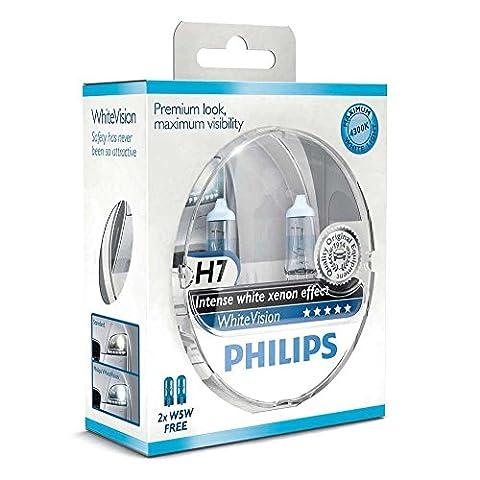 Philips WhiteVision effet xénon H7 pour éclairage avant 12972WHVSM, blister de 2