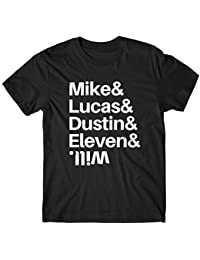 LaMAGLIERIA Camiseta Hombre Stranger Things Mike & Lucas & Dustin & Eleven & Will ...