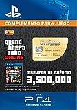 Grand Theft Auto Online - GTA V Cash Card | 3,500,000 GTA-Dollars | Código de descarga PS4 - Cuenta...
