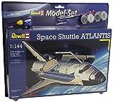 Revell Modellbausatz Flugzeug 1:144 - Space Shuttle Atlantis im Maßstab 1:144, Level 4, originalgetreue Nachbildung mit vielen Details, Raumfahrt, Weltraum, Model Set mit Basiszubehör, 64544