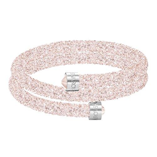 Swarovski Crystaldust Armreif, rosa, Edelstahl