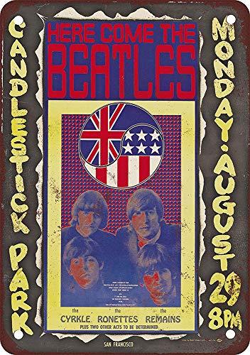 WallAdorn Beatles Candlestick Park Eisen Poster Malerei Blechschild Vintage Wanddekoration für Cafe Bar Pub Home - Candlestick Park Poster