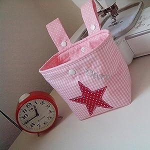 Lenkertasche Stern rosa rot