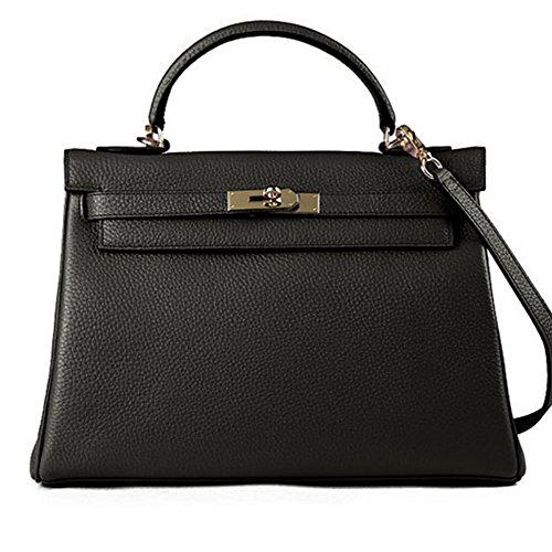 Macton , Damen Henkeltasche schwarz Black 32CM (Gucci Wallet Classic)