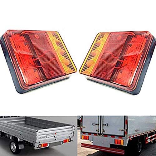 MuChangZi 2 STÜCKE 12 V LED Hinten Bremslichter Rücklichter Blinker Kennzeichenbeleuchtung Platz Hinten LED-licht Kompatibel mit Anhänger LKW Vans Caravan