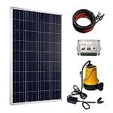 HUANGYABO Solarpumpe Kit 100 Watt Poly Solar Panel & 12V Wasserpumpe Für Pumpe