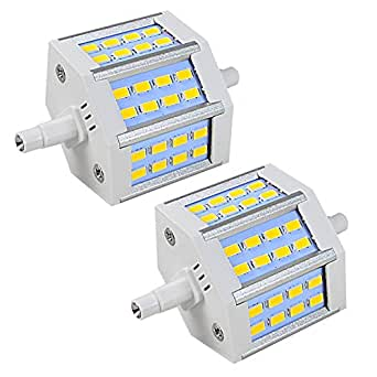 2x MENGS® Dimmable R7s-J78 78mm Lampe à LED 6.5W AC 220-240V Blanc Chaud 3000K 24X5730 SMD LEDs