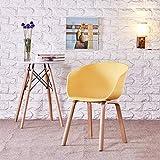 QiXian Handlauf Kunststoff Esszimmerstuhl Einfache Moderne Mode Coffee Shop Bürostuhl Verhandlungsstuhl Konferenzstuhl, Gelb, 46 * 46 * 76 cm