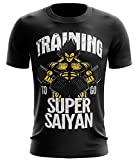 Stylotex Fitness T-Shirt Training to go Super Saiyan vintage Funktions-Stoff schnelltrocknend