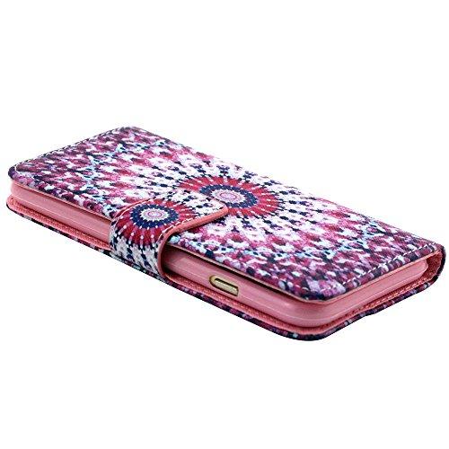 """EUDTH iPhone 6s Coque Peinture Style Housse Flip Cover Portefeuille Etui en Cuir de Protection Case vec B¨¦quille pour iPhone 6 6S 4.7"""" -YH07 YH09"""