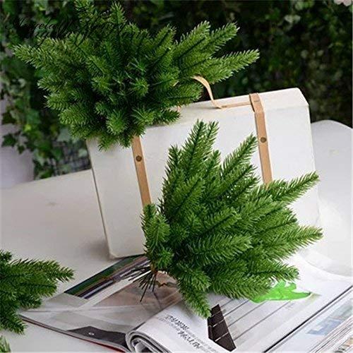 Ouken natale alberi decorativi simulazione pianta artificiale muschio/aghi/con accessori di addobbi floreali