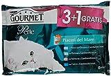 Gourmet Perle Alimento Completo per Gatti Adulti, Piaceri del Mare - 3 confezioni da 4 pezzi da 85 g [12 pezzi, 1020 g]