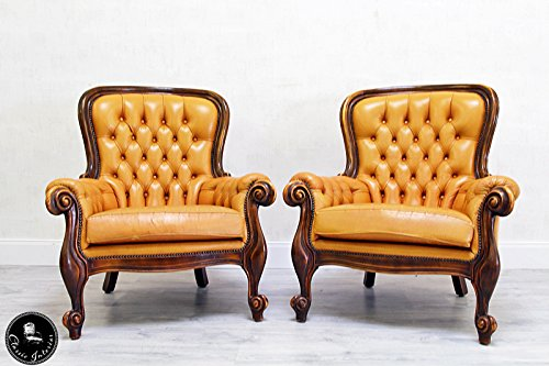 ... Classic Interior 2 Chippendale Chesterfield Ohrensessel Stuhle Sessel  Barock Antik