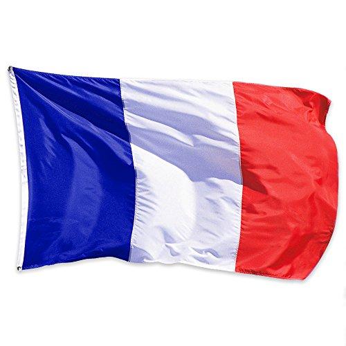 Produktbild NiceButy 1 Pcs 90 * 150 cm Flagge Nationaler Dekorationen Internationalen Flaggen-Spiel von Ländern für Vereine Sportler,  Feier der Vorgang-Bär Flag Nationaler Frankreich