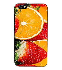 Fuson Designer Back Case Cover for Huawei Honor 4X :: Huawei Glory Play 4X (Strowbery Ornages Fruits)