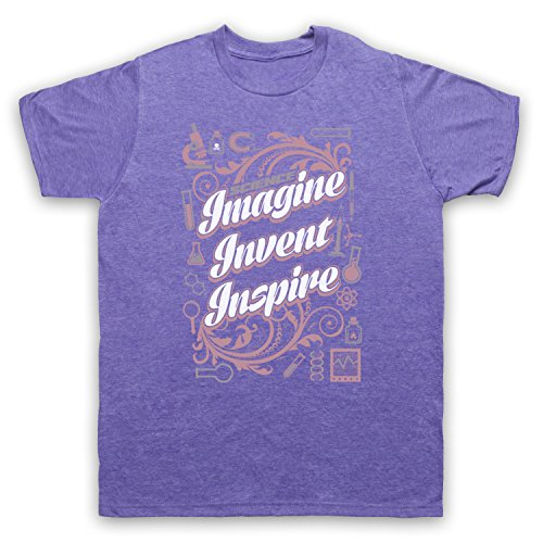 Science Imagine Invent Inspire Herren T-Shirt Jahrgang Violett