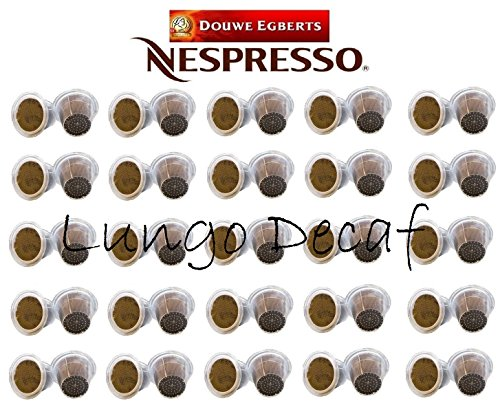 Choose Nespresso Compatible, 50 x D.E Lungo Decaf Coffee Capsules, Intensity 6, Sold Loose - Douwe Egberts