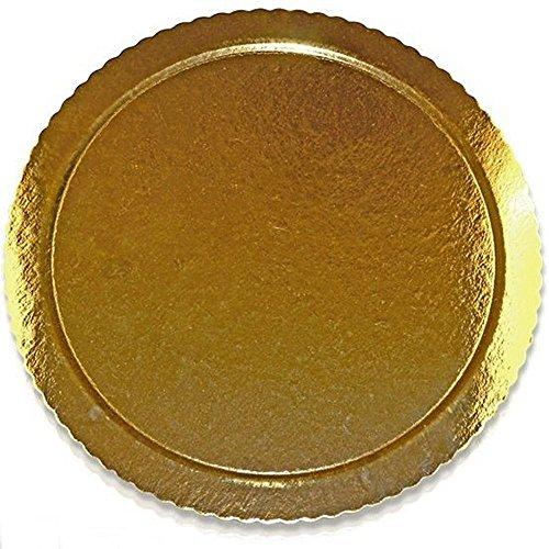 Plateau Présentoir à gâteau rond aile or avec Picot cm 38
