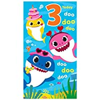 Baby Shark 3rd Birthday Card