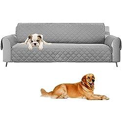 Umiwe Wasserdichte sofabezug - Vorlagen-Reversible Couch-Schonbezug-Möbel-Schutz, Extra Große Beleg-Abdeckungs-Schutz für Haustiere, Hunde, Kinder