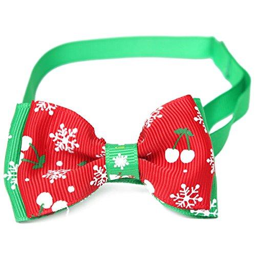 Kungfu Mall Einstellbare Weihnachten Haustier Hund Katze Fliege Bowtie Krawatte Weihnachten Schneeflocke Halsband Haustier Kragen Bow Tie Dekoration  (Lhasa Apso Kostüme)