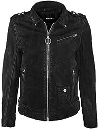 d190a0e8646a Gipsy by Mauritius Herren Bikerjacke Lederjacke Joule SF LABONV Jacket  Slimfit Schwarz