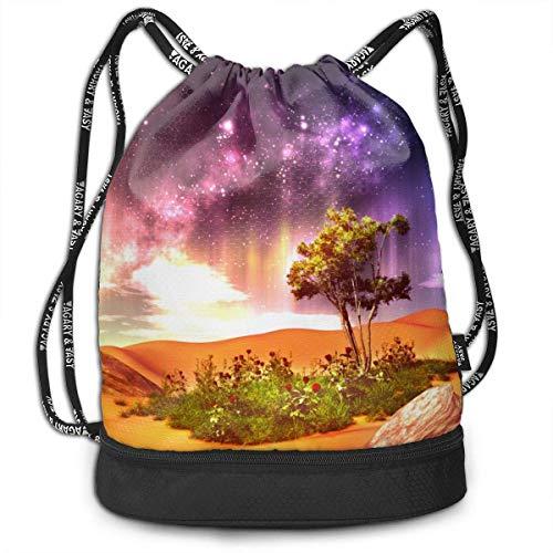 ree Print Drawstring Bags - Simple Hiking Sack ()