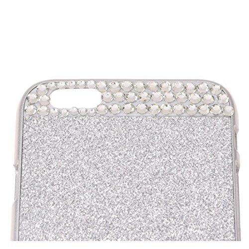 TOOGOO(R) 3D Bling Case Cover scintillio scintilla di cristallo strass rigido per Apple iPhone 6-argento