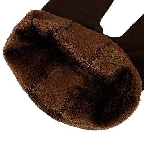 Eleery Damen weiche Slim Leggings Leggings Hose Dicke Winter warme Fleece-Futter Stretch Hüfthose Gamaschen (Kaffee)