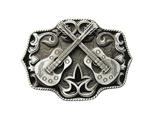 Gürtelschnalle Country Music Musik Western Gitarre 3D Optik für Wechselgürtel Gürtel Schnalle Buckle Modell 111 - Schnalle123