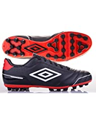 Umbro Bota Classico 3 AG Black-White-Red Talla 8 USA