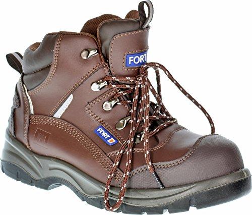 Chaussures de sécurité imperméable pour homme Chevilles Chaussures montantes avec coque en acier Groundwork résistant Marron - marron