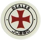 Juego Ju00150 - Gettone Dealer 6.5 X 6.5 X 2 Cm, 1 Pezzo Standard, Per Gioco da Tavolo e Gioco di Società, Modelli Assortiti, Bianco