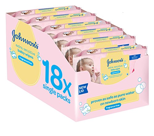 Johnson's Baby Extra Sensitive Fragrance Free Wipes - Total 1008 Wipes by Johnson's Baby