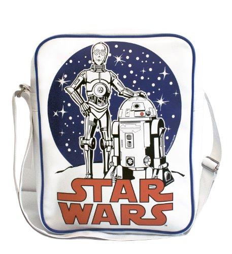 C-3PO R2-D2 Borsa a tracolla - Star Wars - Guerre stellari Borsa - design originale concesso su licenza - LOGOSHIRT