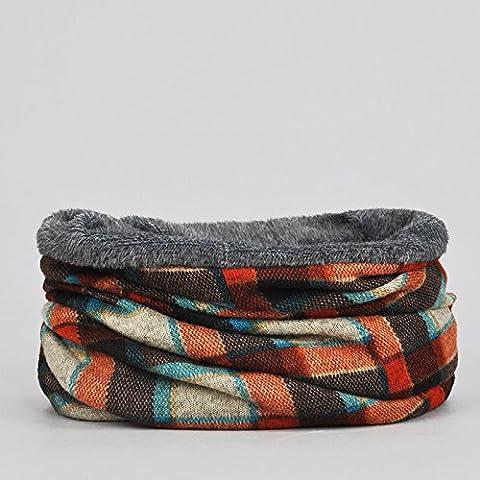 Collare collari proteggere la natura selvaggia in autunno e inverno caldo maglia sciarpa,Colore arancione (con velluto)
