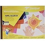 Sadipal 5978 - Bloc de manualidades con papel celofán, 10 hojas