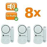 24er Set Mini Alarmanlagen, sichert Fenster und Türen, Alarmauslösung durch Magnetkontakt, kabellos