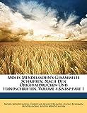 Moses Mendelssohn's gesammelte Schriften, nach den Originaldrucken und handschriften, Vierten Bandes
