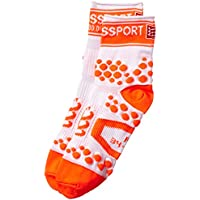 Compressport Pro Racing V2 Run Hi - Calcetines para hombre, color blanco/naranja, talla FR : L (Taille Fabricant : T3)